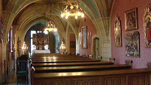 Interiér romantického zámku