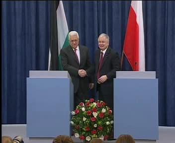 Mahmúd Abbás a Lech Kaczyński