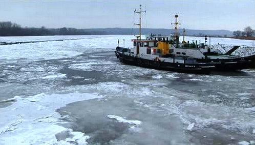 Zamrzlé řeky v Německu