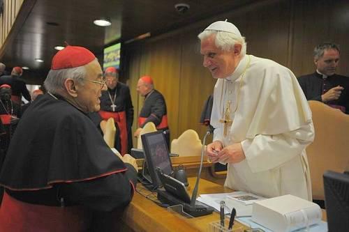Kardinál Vlk a papež Benedikt XIV.