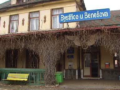 Nádraží v Bystřici u Benešova
