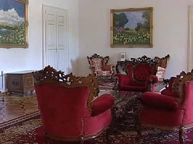 Interiér zámku v Chotovinách