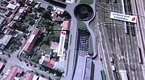 Plánovaný tunel v Českých Budějovicích