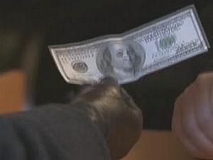 Rozdávání peněz na Times Square