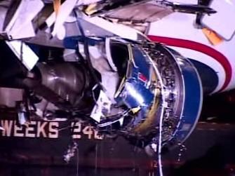 Zničený motor Airbusu A320