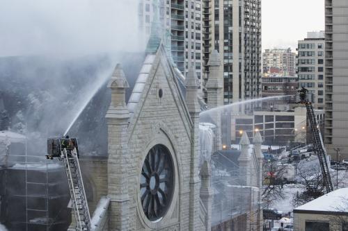 Požár katedrály v Chicagu