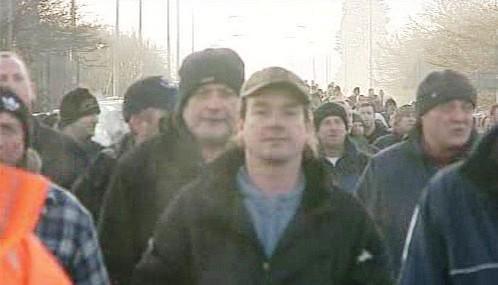 Protestující britští dělníci