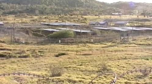 Opuštěná část základny Guantánamo