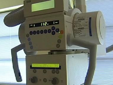 Řídící panel rentgenu