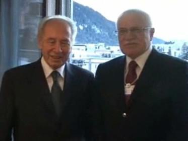 Šimon Peres a Václav Klaus