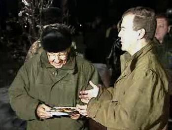Raúl Castro a Dmitrij Medveděv