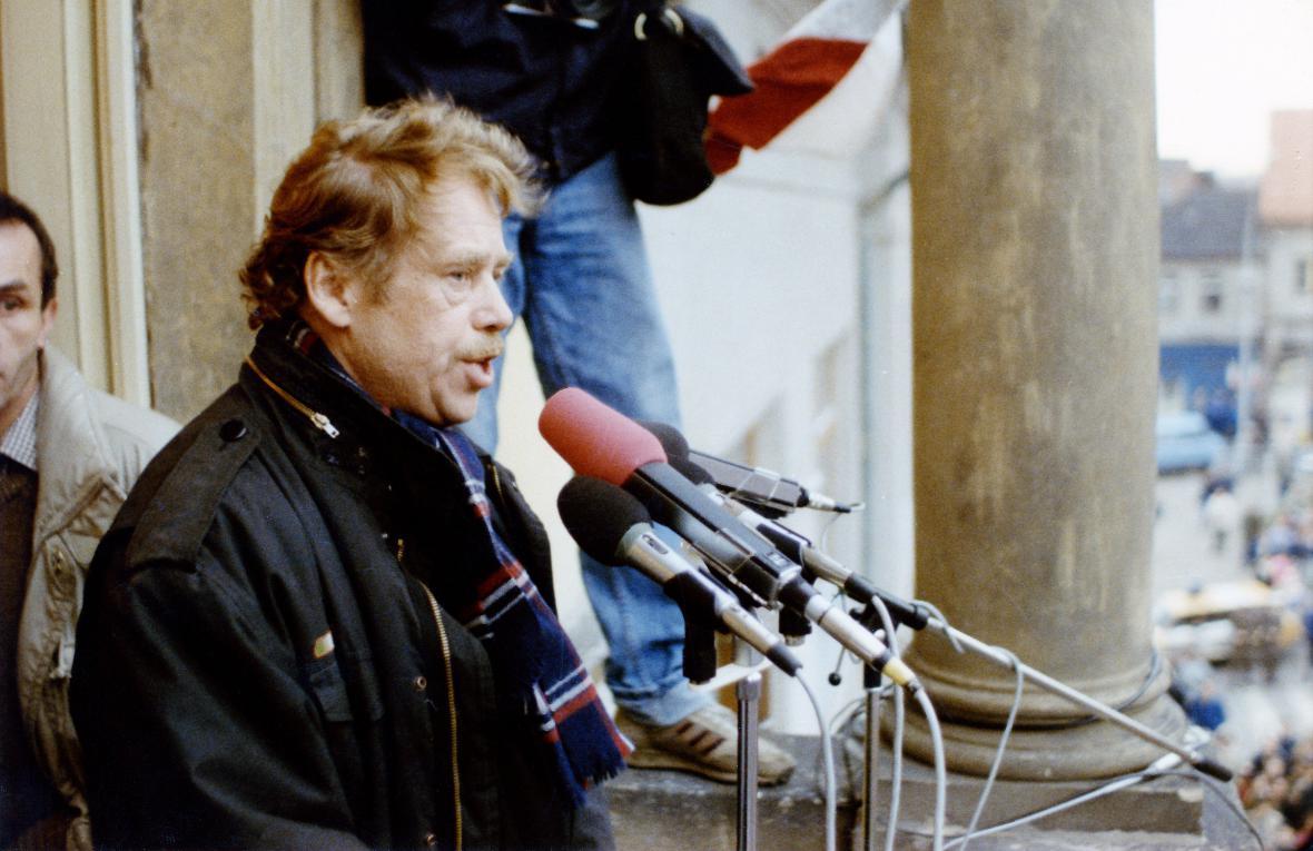 Václav Havel ve filmu Něžná revoluce