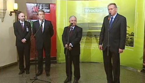 Viktor Juščenko, Lech Kaczyński a Mirek Topolánek