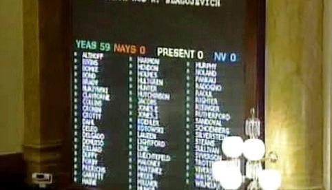 Hlasování o odvolání guvernéra Blagojeviche