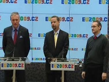 Mirek Topolánek, Martin Říman a Václav Bartuška