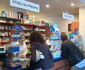 Výdej léků v lékárně