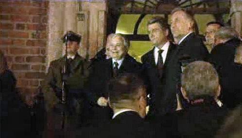 Lech Kaczyński, Viktor Juščenko a Mirek Topolánek