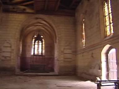 Interiér kostela ve Velichově