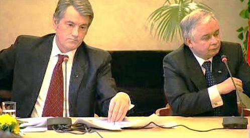 Viktor Juščenko a Lech Kaczyński