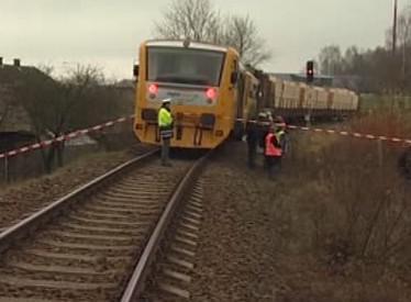 Nehoda osobního vlaku