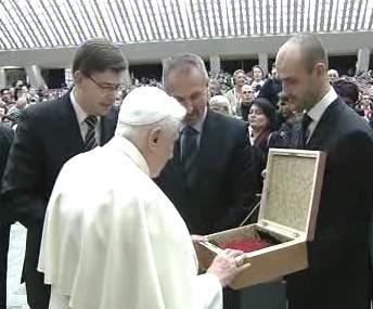 Benedikt XVI. a Jiří Pospíšil