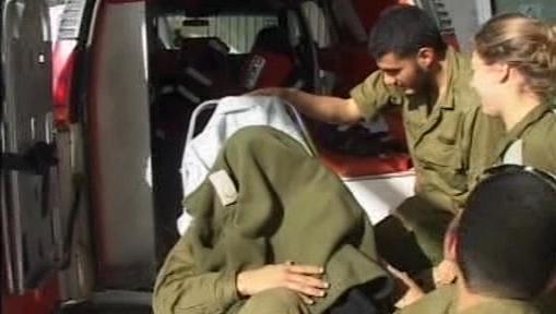 Raněný po nočním útoku Izraele