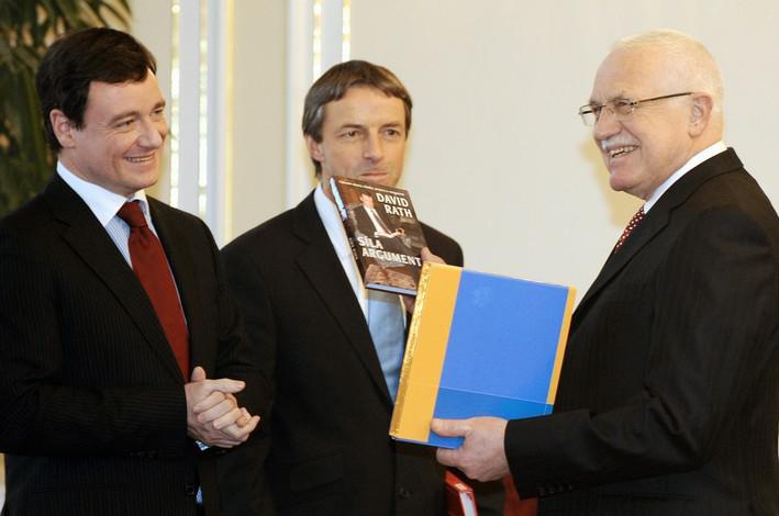 Václav Klaus na setkání s hejtmany