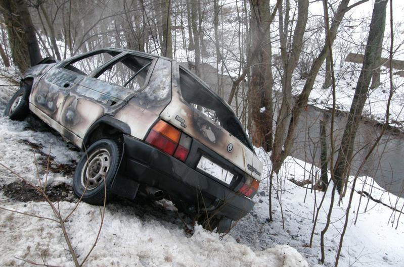 Automobil po nehodě