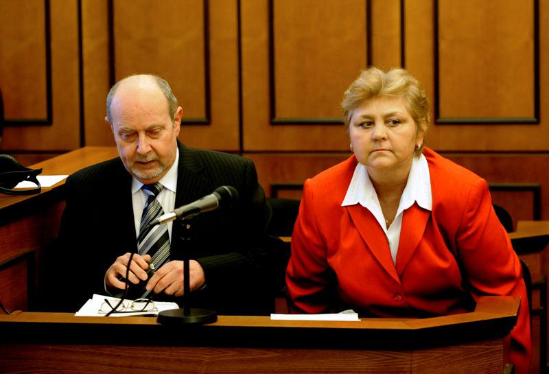 Marie Součková se svým obhájcem