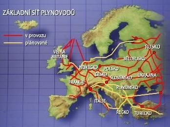 Základní síť plynovodů