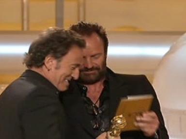 Bruce Springsteen přebírá Zlatý glóbus za rok 2008