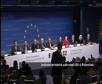 Jednání ministrů zahraničí EU o Palestině