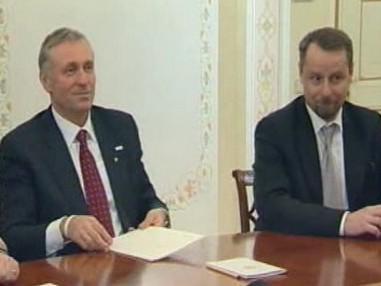 Mirek Topolánek a Martin Říman