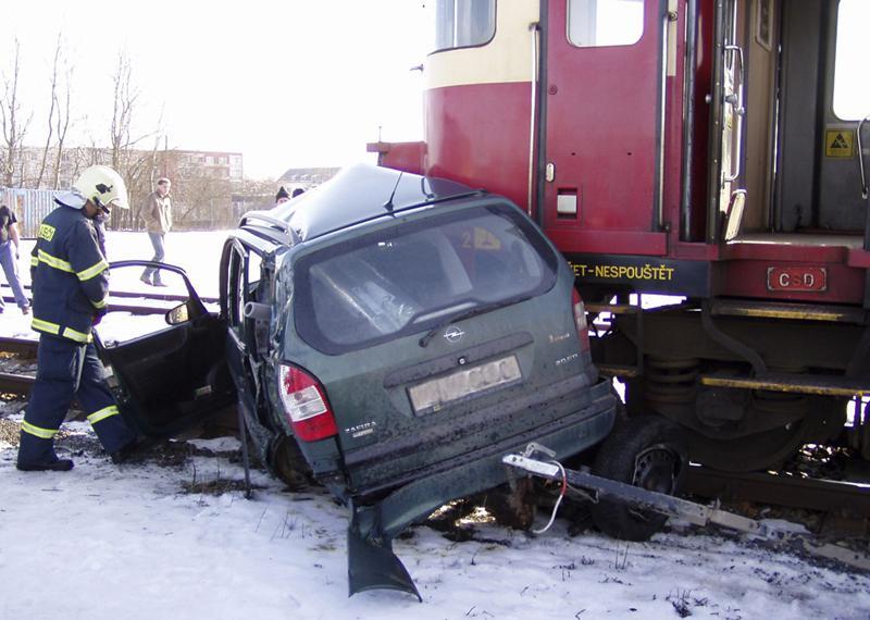 Nehoda na železničním přejezdu