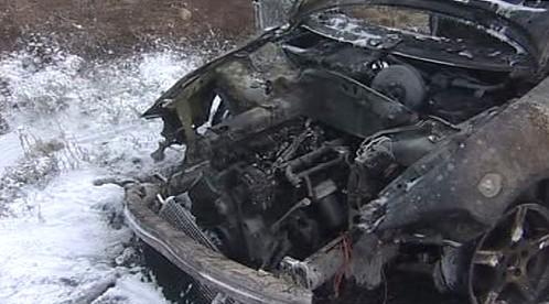 Vrak auta po požáru