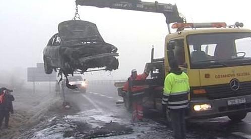 Odklízení následků nehody