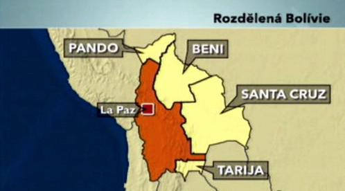 Opoziční autonomní oblasti Bolívie