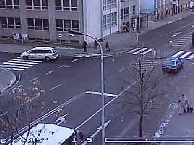 Pohled kamery na místo události