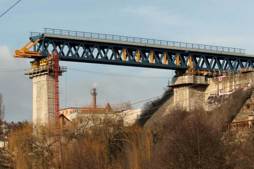 Výstavba mostu ve Znojmě