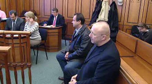 Jaroslav Starka a Roman Kolář před soudem