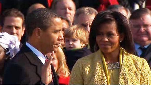 Barack Obama při slavnostní přísaze