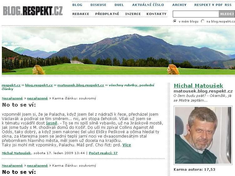 Blog Michala Matouška