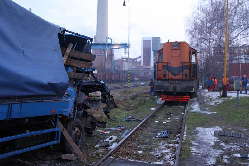 Dopravní nehoda na železničním přejezdu