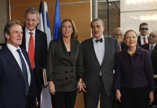 Evropská delegace při jednáních v Izraeli