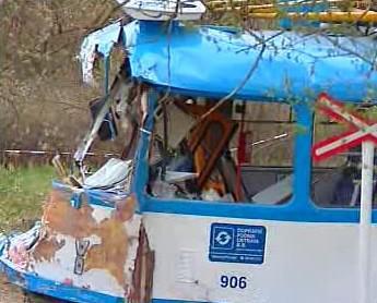 Nehoda tramvaje v Ostravě