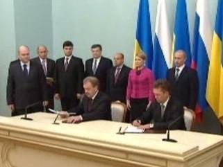 Podpis dohody o dodávkách plynu