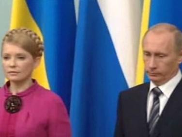 Julija Tymošenková a Vladimir Putin