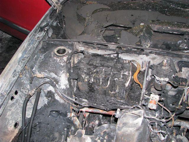 Motor po požáru