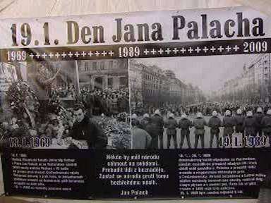 Plakát k výročí smrti Jana Palacha