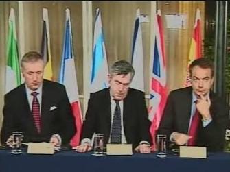 M. Topolánek, G. Brown a J. L. Zapatero